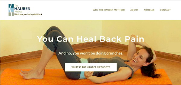 Hauber Method for back pain relief